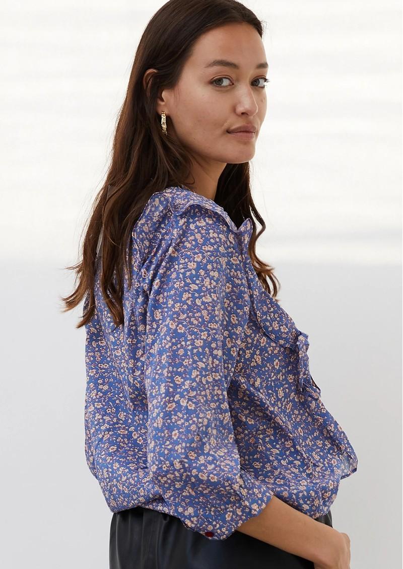 LOLLYS LAUNDRY Hanni Floral Shirt - Blue  main image