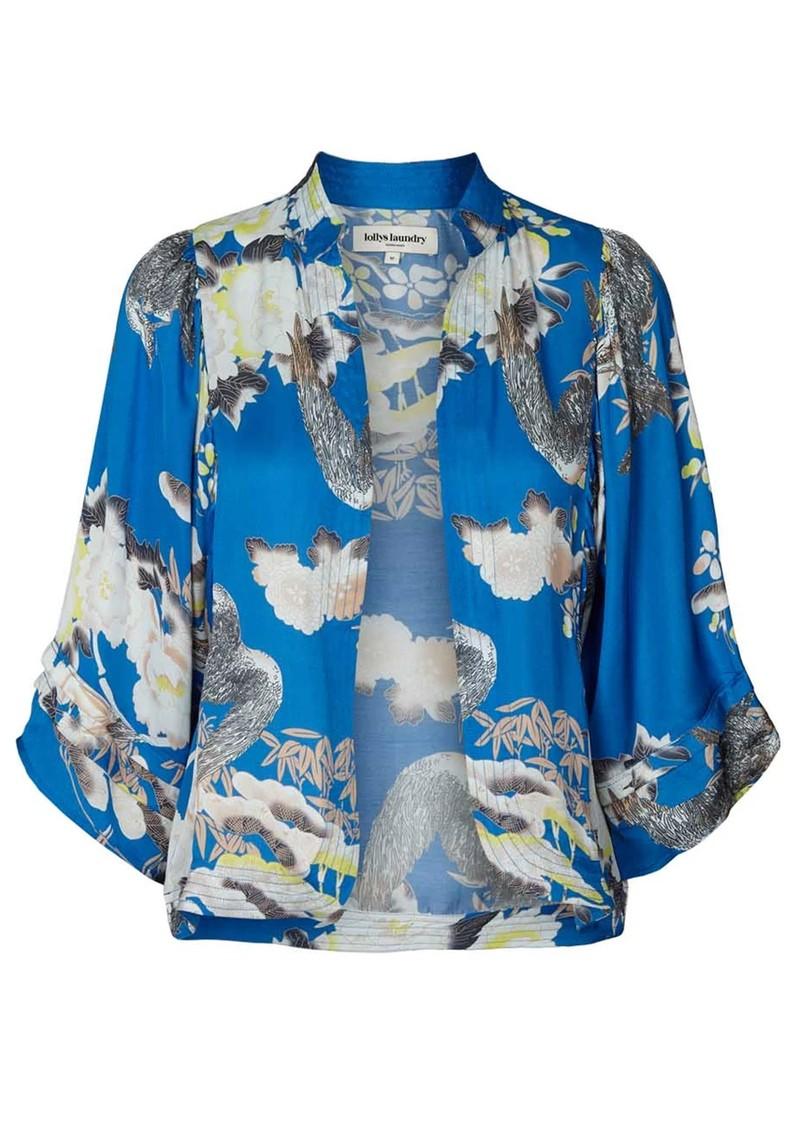 LOLLYS LAUNDRY Alba Printed Kimono Jacket - Blue  main image