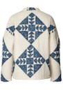 Valeria Quilted Cotton Jacket - Creme additional image