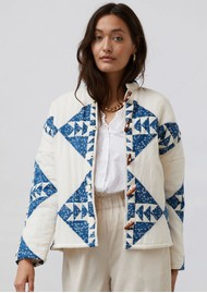 LOLLYS LAUNDRY Valeria Quilted Cotton Jacket - Creme