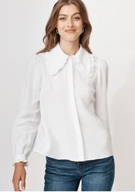 MAYLA Alma Cotton Blouse - White