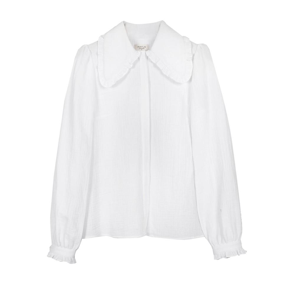 Alma Cotton Blouse - White