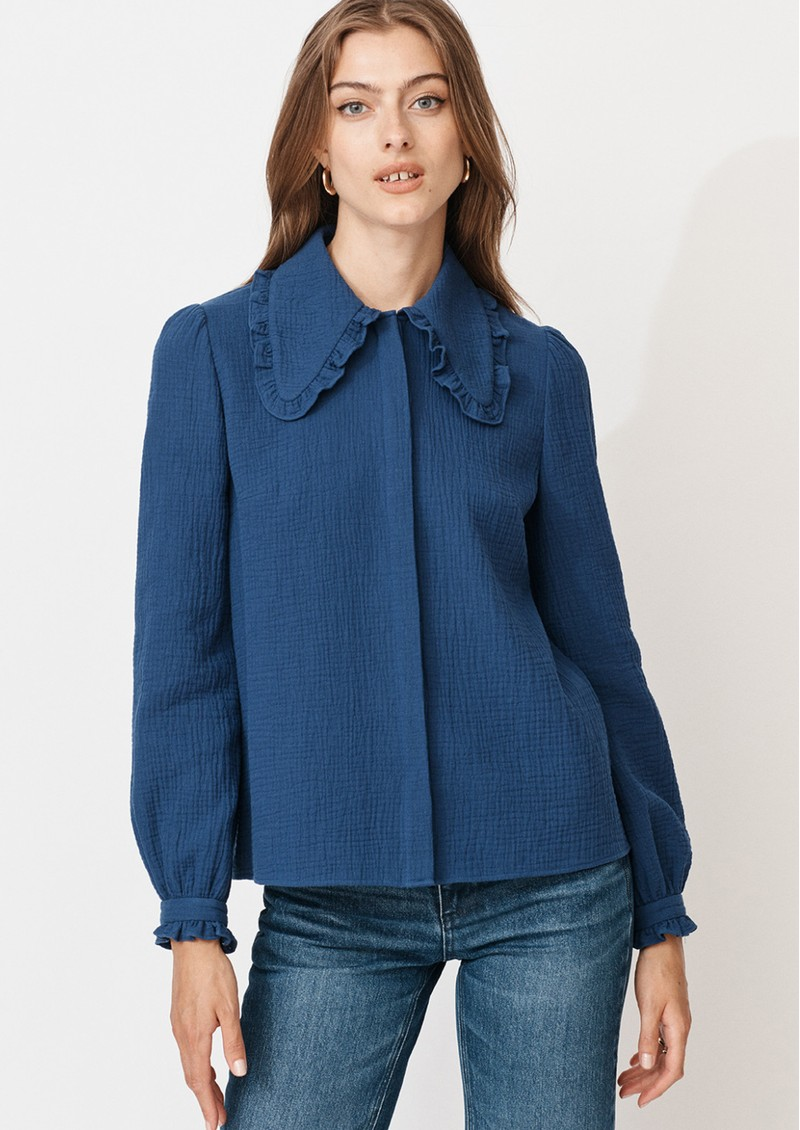MAYLA Alma Cotton Blouse - Blue main image