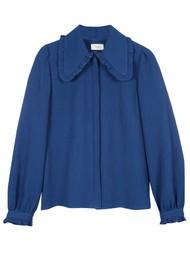 MAYLA Alma Cotton Blouse - Blue