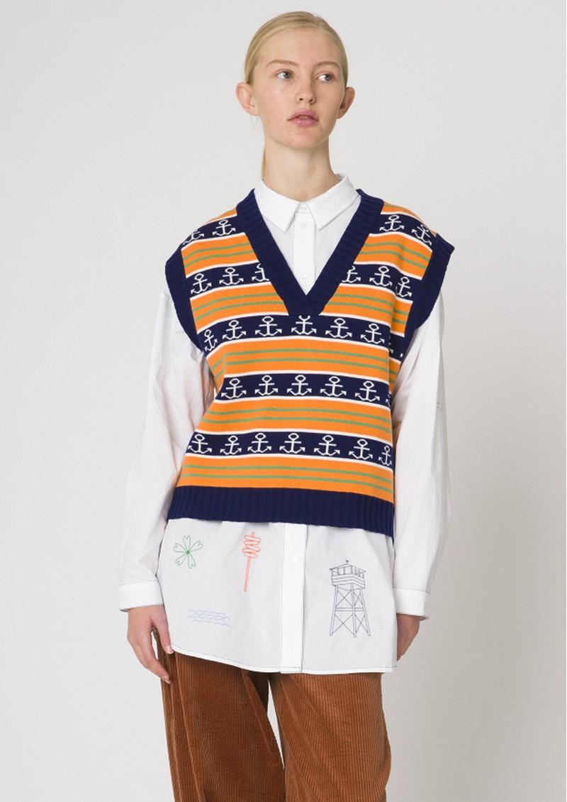 RESUME Gordon Knitted Vest - Orange main image