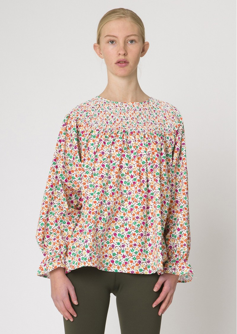RESUME Gillian Floral Printed Cotton Top - White main image