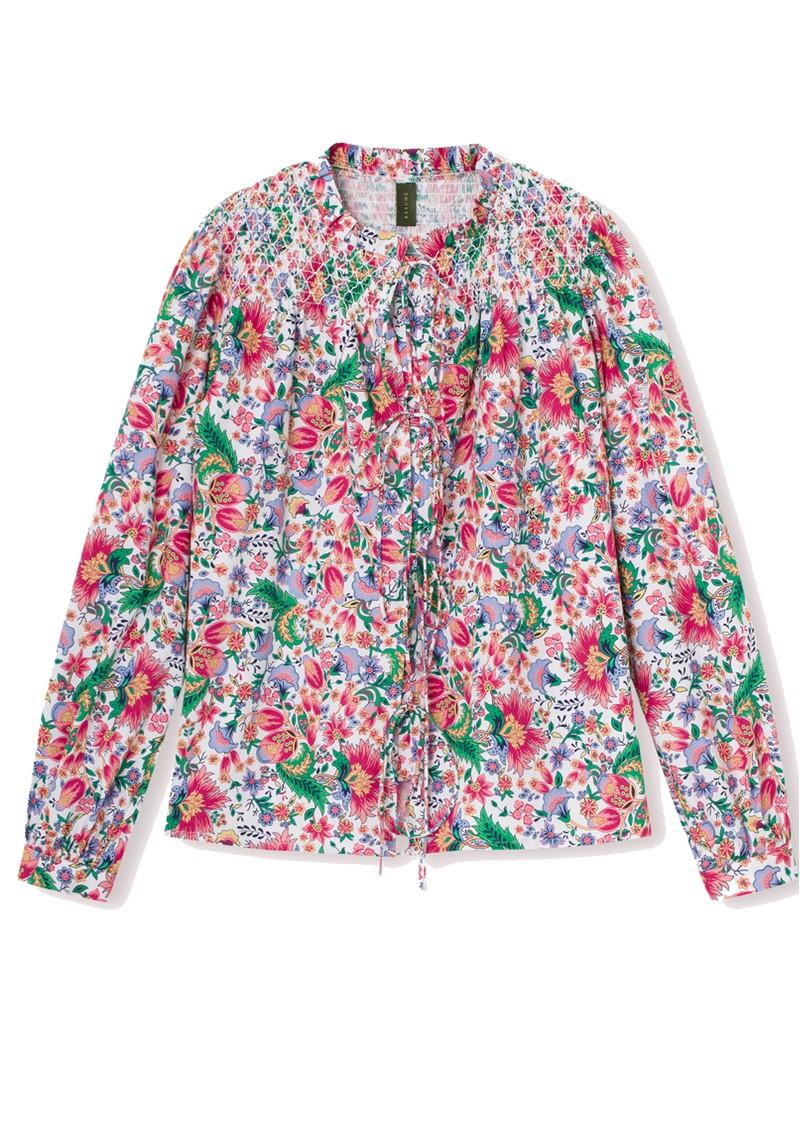 RESUME Gabe Floral Printed Cotton Shirt - Dark Coral main image