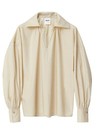 Day Birger et Mikkelsen Dafney Oversized Cotton Shirt - Brown Rice