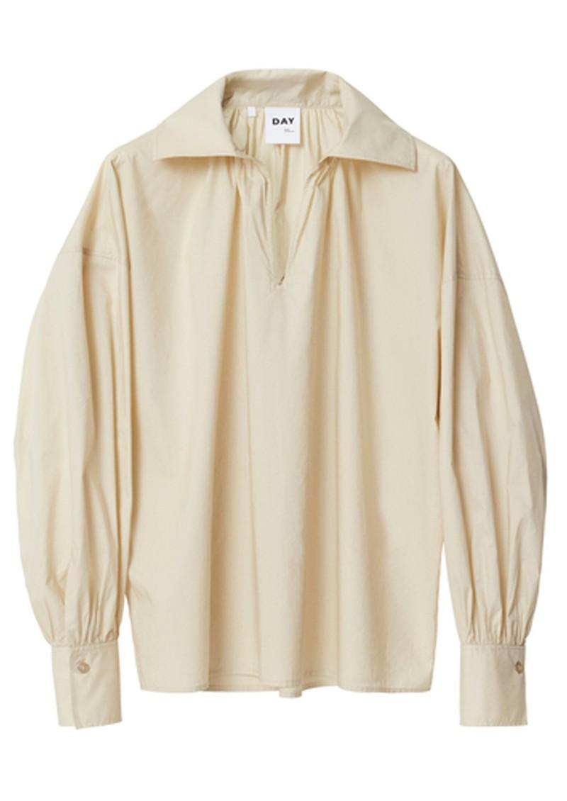 Day Birger et Mikkelsen Dafney Oversized Cotton Shirt - Brown Rice main image