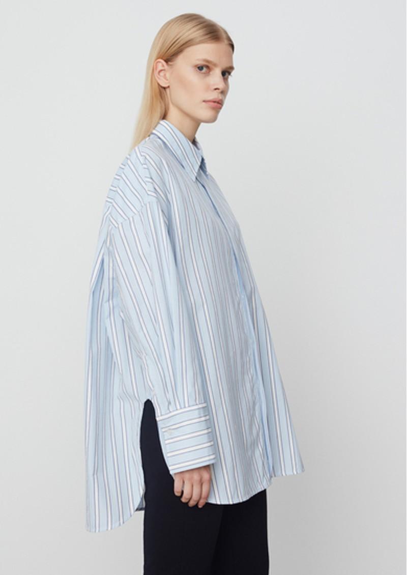 Day Birger et Mikkelsen Olivia Striped Cotton Shirt - Light Blue main image