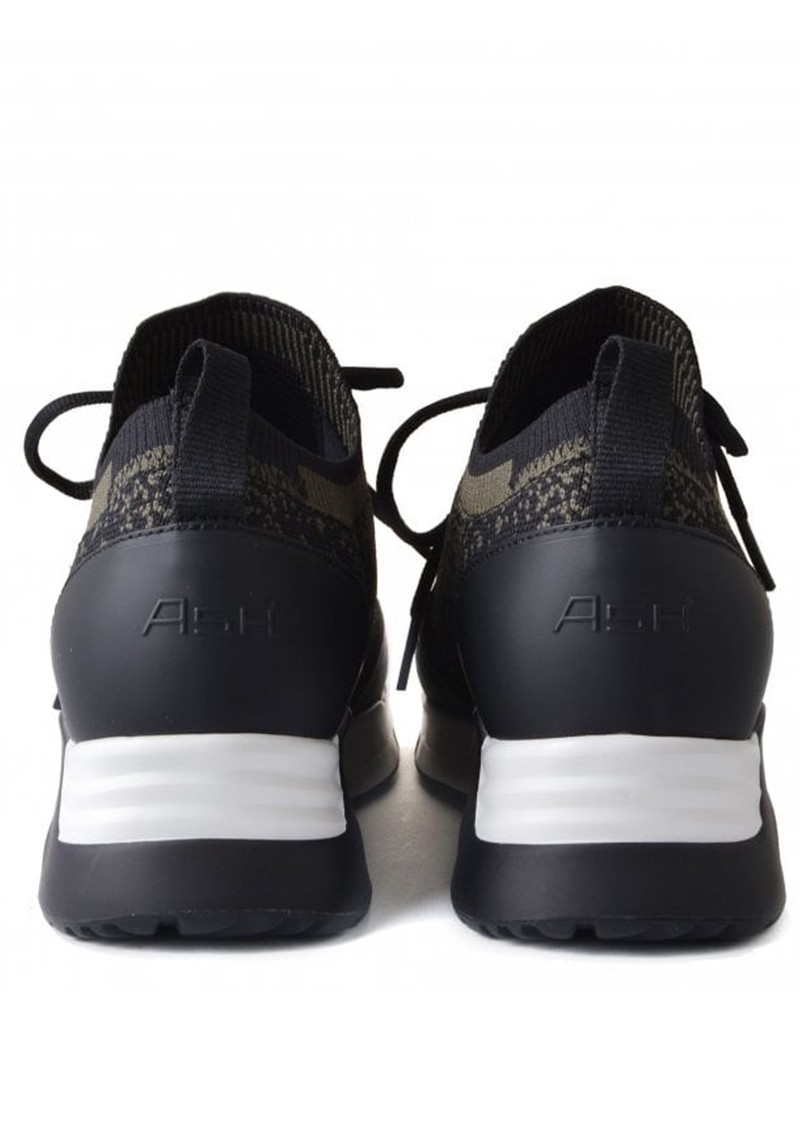 Ash Lifting Knitted Trainers - Black & Military main image