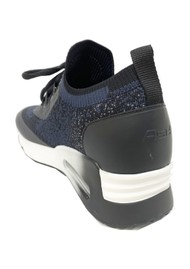 Ash Lifting Knitted Trainers - Black & Whale