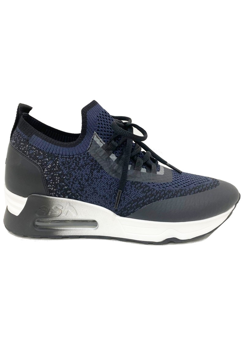 Ash Lifting Knitted Trainers - Black & Whale main image