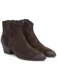 Ash Houston Brushed Suede Boots - Ebano