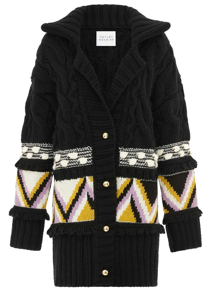 HAYLEY MENZIES Elgin Merino Wool Midi Cardigan - Black main image