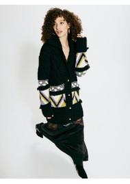 HAYLEY MENZIES Elgin Merino Wool Midi Cardigan - Black