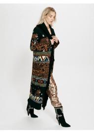 HAYLEY MENZIES Portobello Tiger Long Merino Wool Cardigan - Black