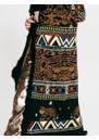 Portobello Tiger Long Merino Wool Cardigan - Black additional image