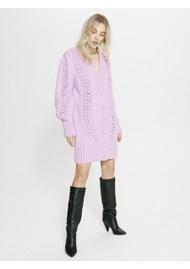 HAYLEY MENZIES Gloria Wool Mix Cardi Dress - Violet