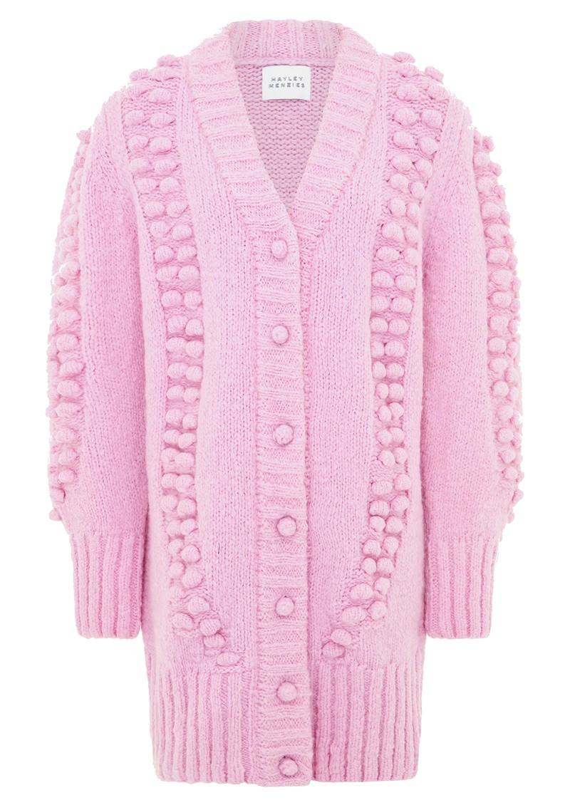 HAYLEY MENZIES Gloria Wool Mix Cardi Dress - Violet main image