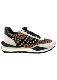 Ash Spider Studded Eco Trainers - Leopard & Grey