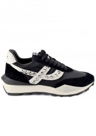 Ash Spider Studded Eco Trainers - Black & White