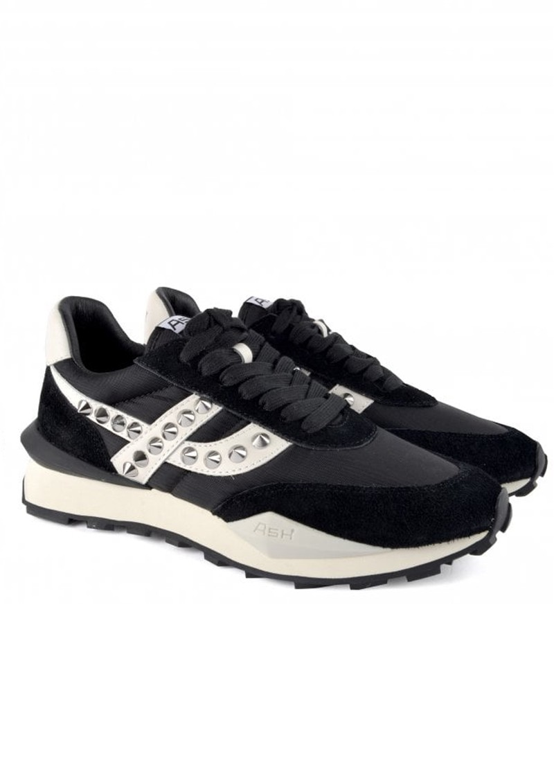 Ash Spider Studded Eco Trainers - Black & White main image