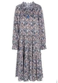 DEA KUDIBAL Viola Midi Silk Dress - Trellis Blue