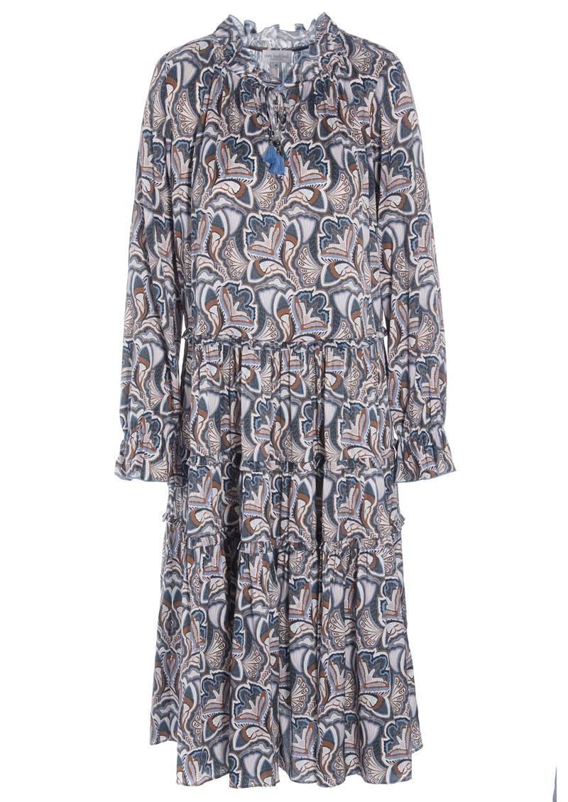 DEA KUDIBAL Viola Midi Silk Dress - Trellis Blue main image