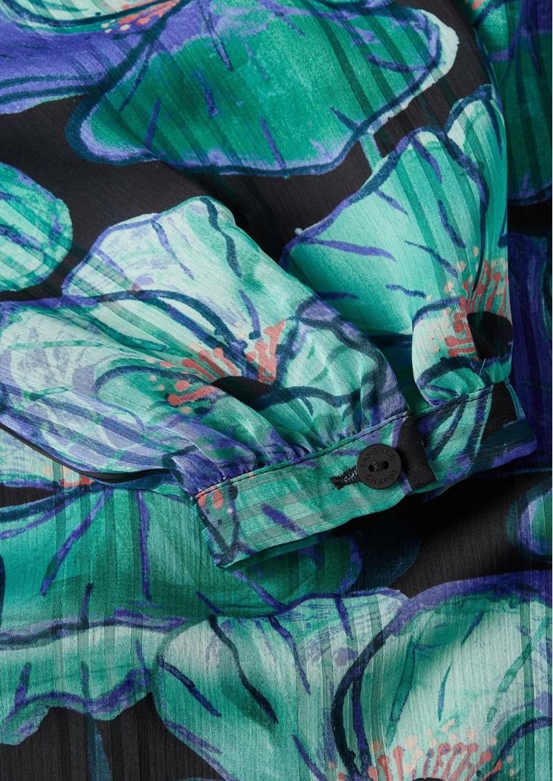 FABIENNE CHAPOT Frida Long Printed Maxi Dress - Aqua Poppies main image