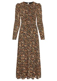 FABIENNE CHAPOT Bella Midi Mesh Printed Dress - Confetti