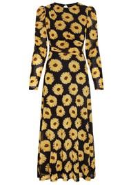 FABIENNE CHAPOT Bella Midi Mesh Printed Dress - Sunset Flowers Small