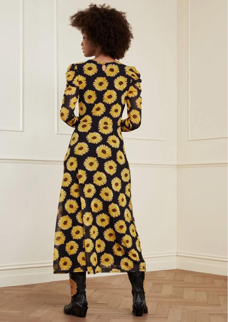 FABIENNE CHAPOT Bella Midi Mesh Printed Dress - Sunset Flowers Small main image