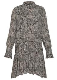 MAGALI PASCAL Bianca Shirt Silk Mix Dress - Zebra