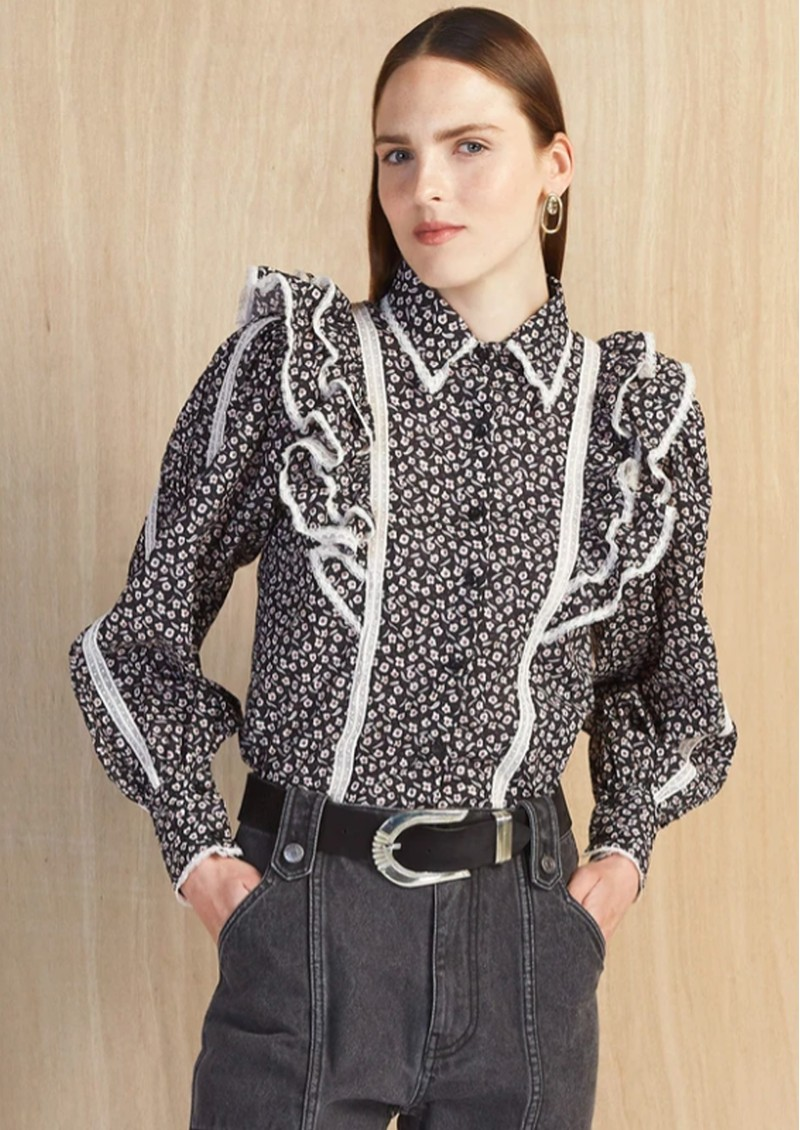 MAGALI PASCAL Jacky Cotton Shirt - Floral Dark main image