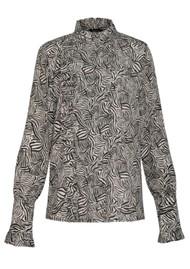 MAGALI PASCAL Bianca Silk Mix Shirt - Zebra