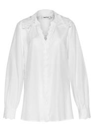 MAGALI PASCAL Amandine Cotton Silk Mix Shirt - Off White