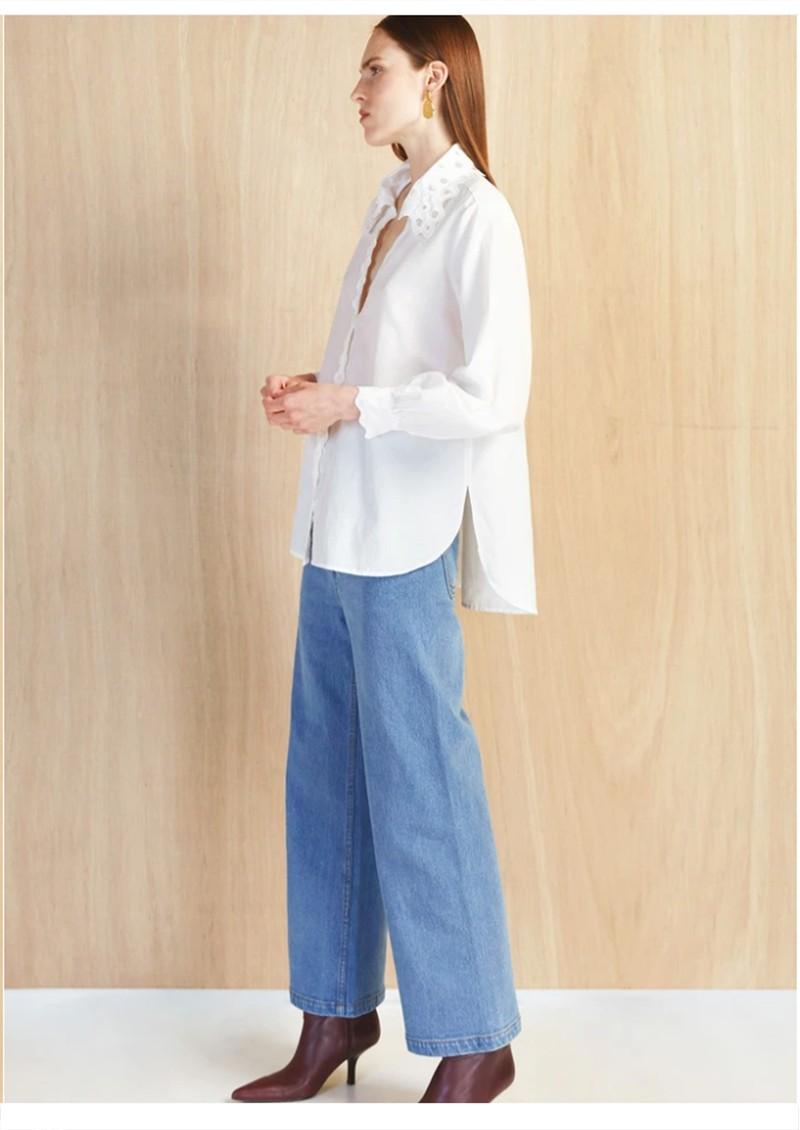 MAGALI PASCAL Amandine Cotton Silk Mix Shirt - Off White main image