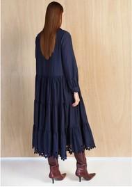 MAGALI PASCAL Amandine Cotton Silk Mix Dress - Navy