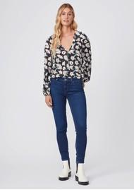 Paige Denim Muse Mid Rise Transcend Skinny Jeans - Model