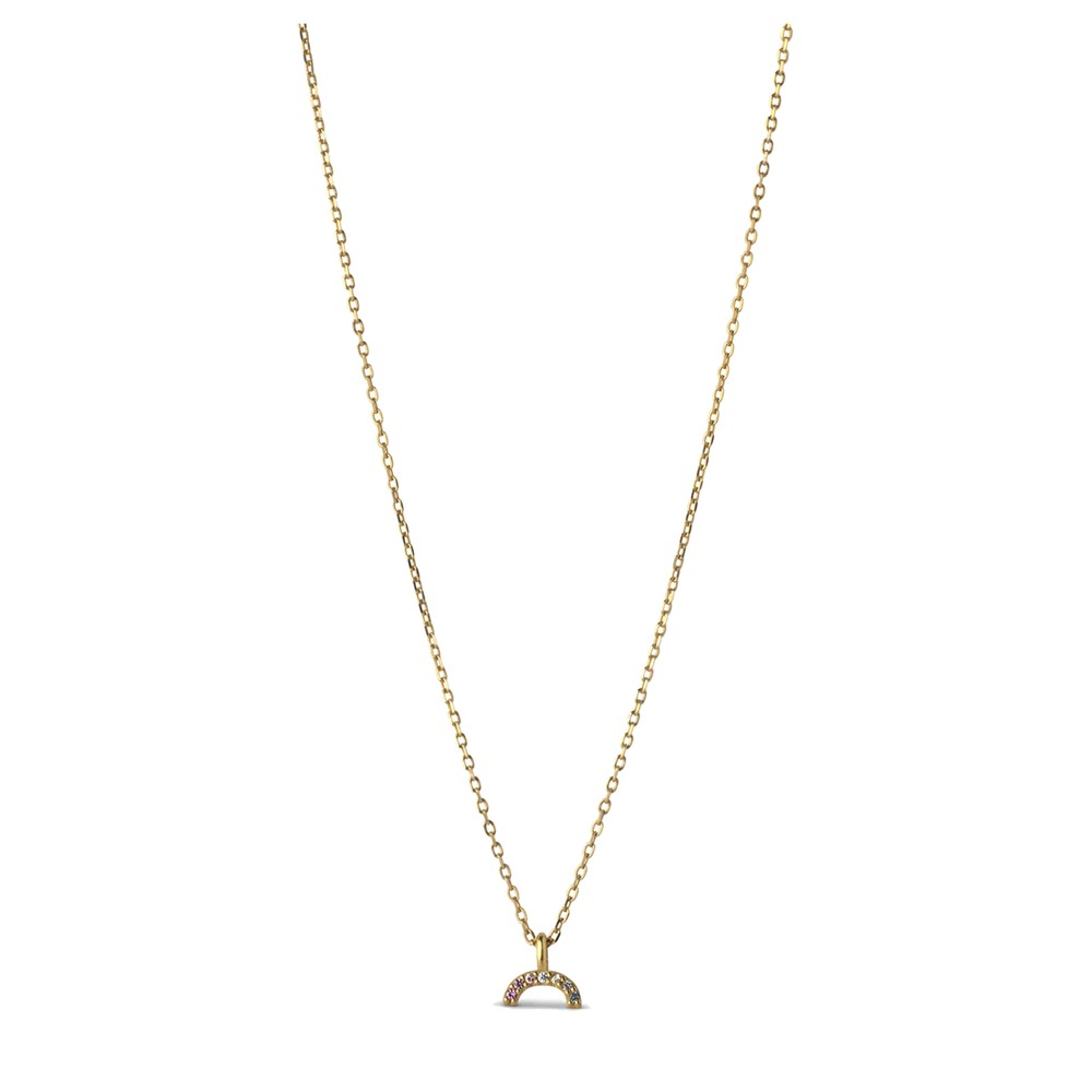 Sparkling Rainbow Necklace - Gold