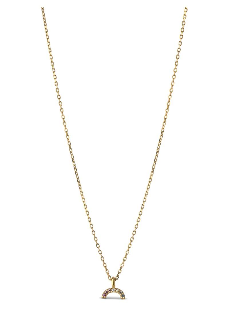 ENAMEL COPENHAGEN Sparkling Rainbow Necklace - Gold main image