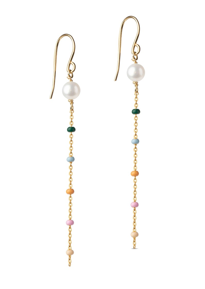 ENAMEL COPENHAGEN Lola Perlita Drop Earrings - Gold main image