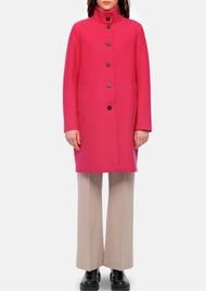 HARRIS WHARF Eggshaped Pressed Wool Coat - Hot Pink