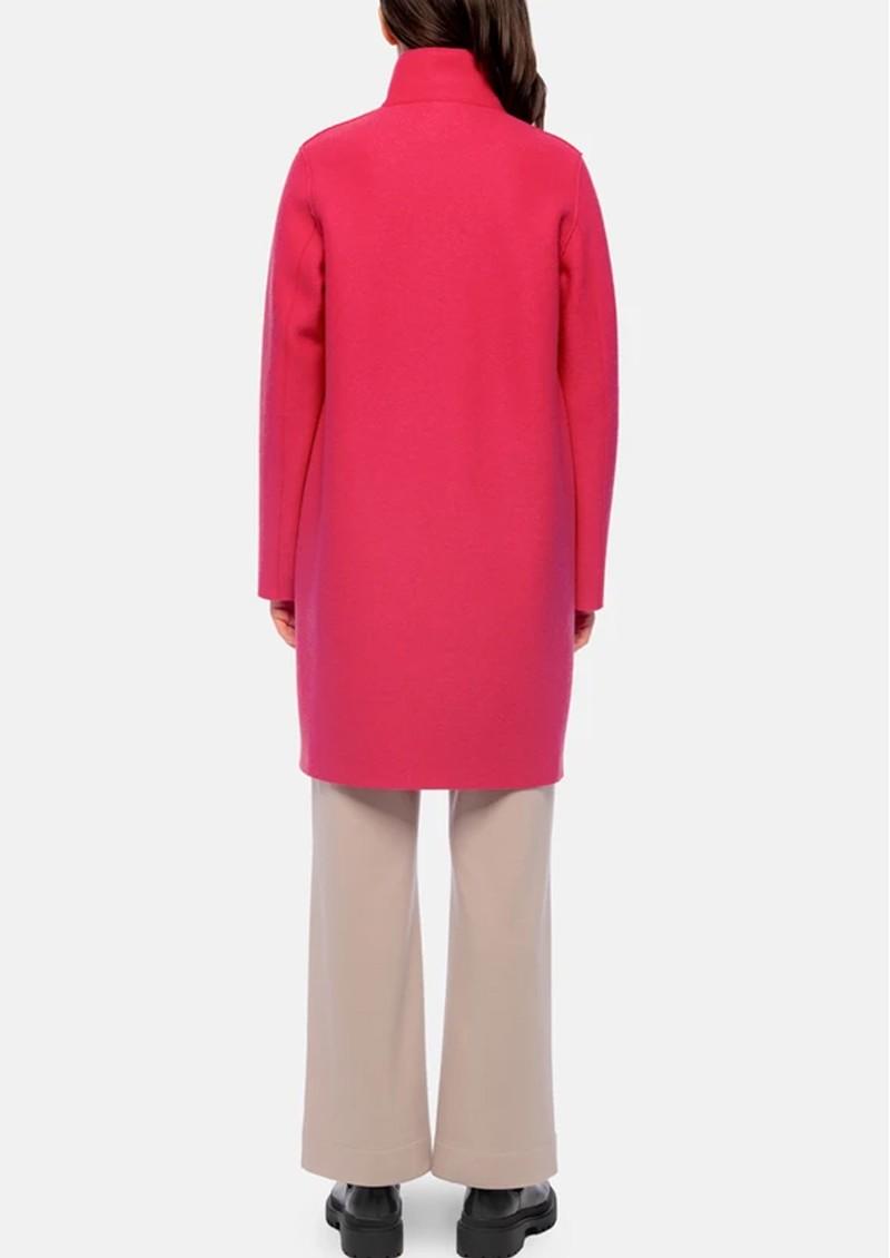 HARRIS WHARF Eggshaped Pressed Wool Coat - Hot Pink main image