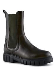 SHOE THE BEAR Rebel Chelsea High Leather Boots - Khaki