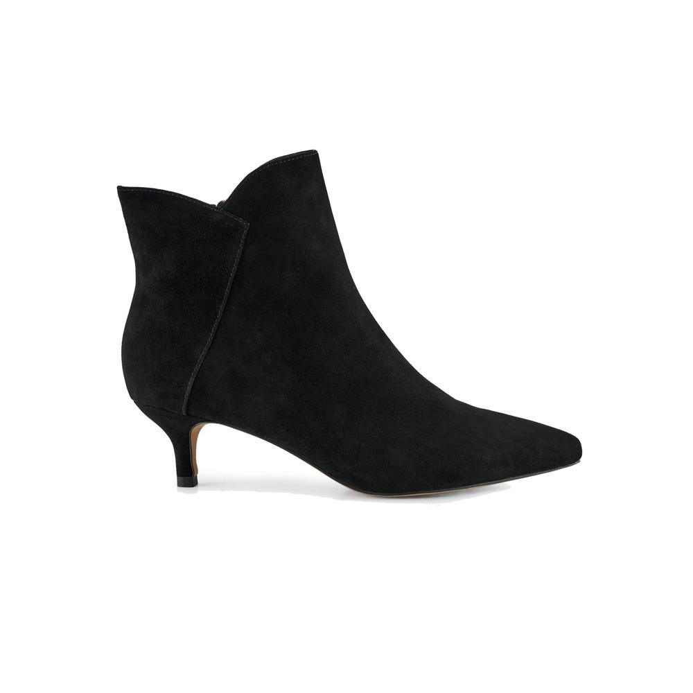 Saga Suede Zip Boot - Black