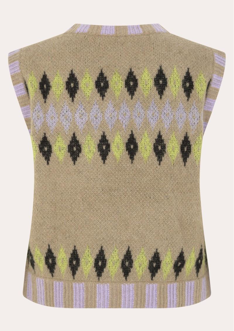 STINE GOYA Lotti Knitted Vest - Fair Isle main image
