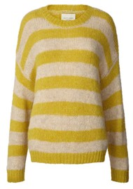 LOLLYS LAUNDRY Terry Stripe Jumper - Yellow