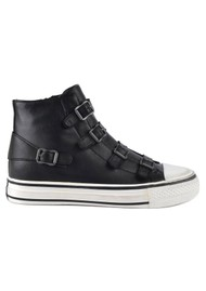 Ash Virgin Buckle Leather Trainers - Black